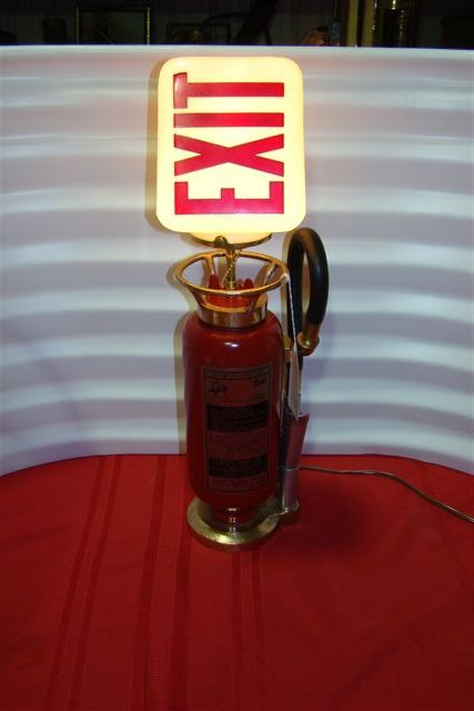 Very Unique Fire Extinguisher converted to a table lamp ...