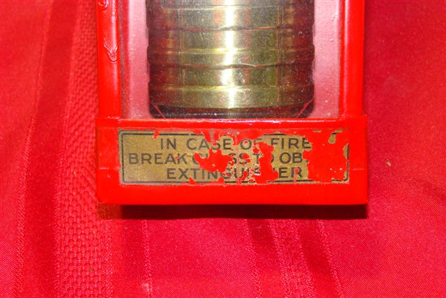 Pyrene Carbon Tet Fire Extinguisher In Very Unusual Glass