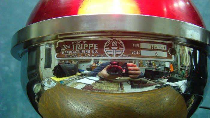Vintage Trippe Type Hb 1 6 Volt Red Revolving Light