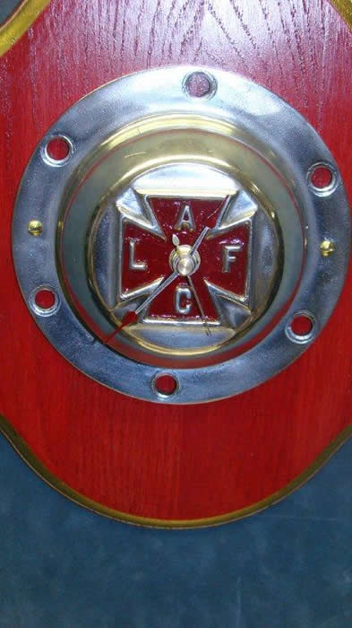 How Aluminum Is Made >> Wall clock made from Wheel Hub off vintage American LaFrance Fire Engine