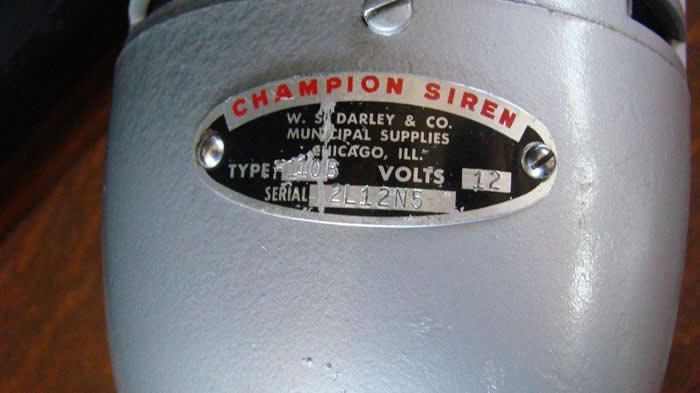 Small Size 12 Volt Dc Champion Siren  U0026 Red Light
