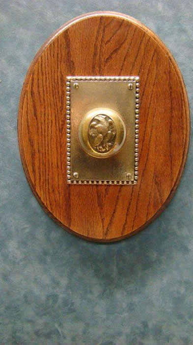 Vintage Brass Knob With Quot Eagle Quot Emblem Casted Into It