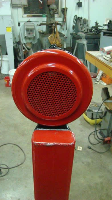sterling hand crank siren from a vintage fire truck