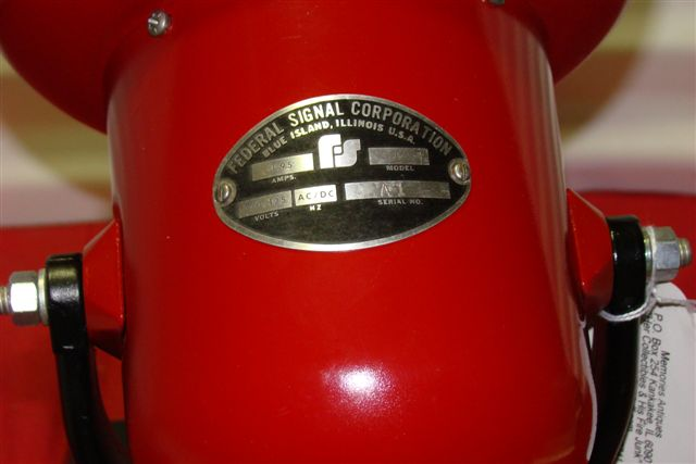 Federal Signal Electric Fire Alarm    Air Raid Siren