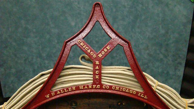 vintage cast iron  u0026quot chicago hose rack u0026quot