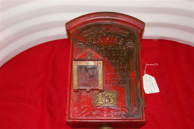 Gamewell Very Early Round Top Cast Iron Fire Alarm