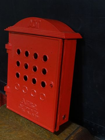 Antique Fire Alarm Box Marked Quot Adt Quot Amp Quot Aero Automatic Fire Quot