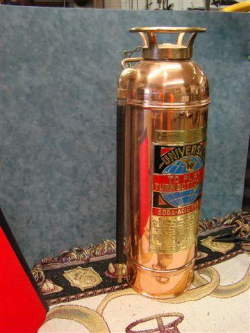Universal Restored Soda Acid Copper Brass Fire Extinguisher