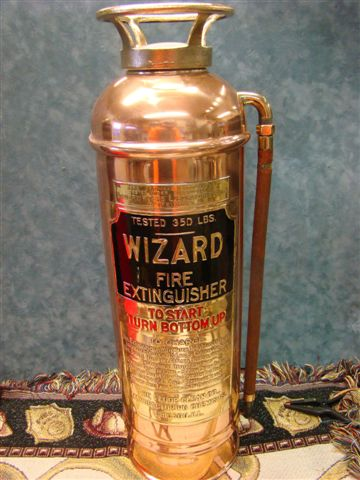 Wizard Restored Soda Acid Copper Brass Fire Extinguisher