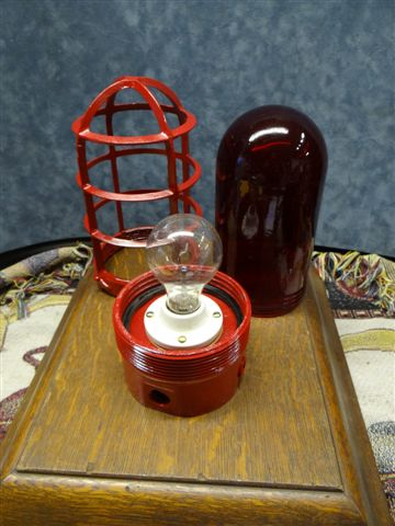 Fire House Outdoor Red Light Fixture With Weather Proof
