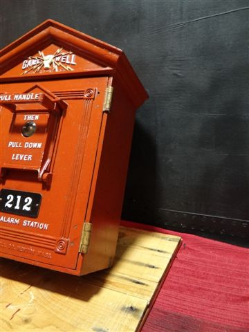 Gamewell Cottage Style Cast Iron Fire Alarm Box
