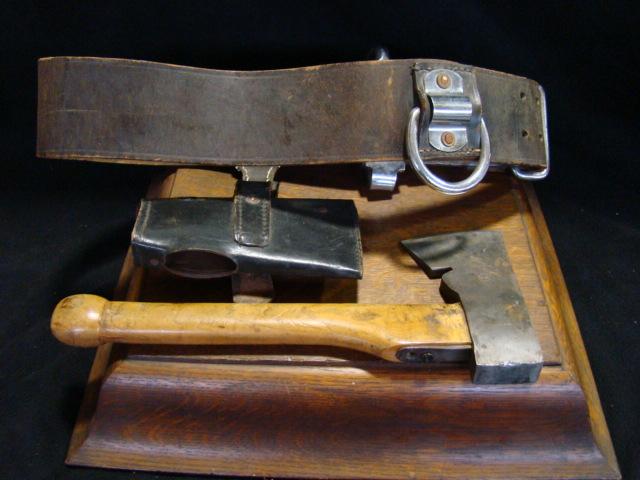 Vintage Leather Belt Vintage Leather Belt With Axe
