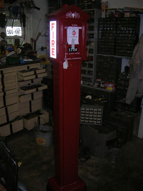 Gamewell Alarm Box W Pedastal