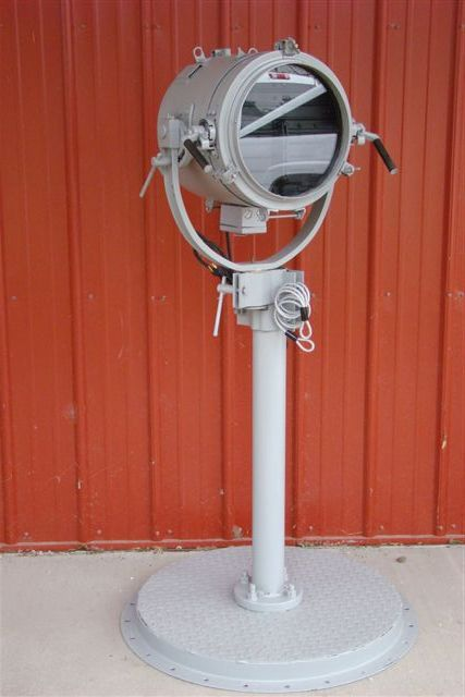 U S Navy Ship S Signaling Light Mounted On Metal Pole Amp Base
