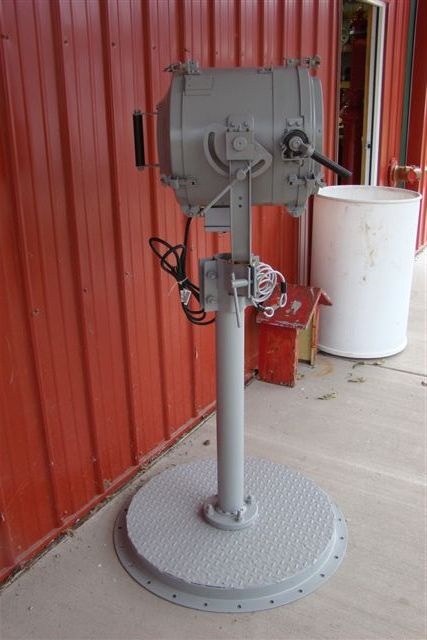 U S  Navy Ship U0026 39 S Signaling Light Mounted On Metal Pole  U0026 Base