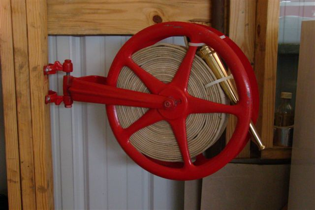 & Cast iron old fire hose reel cleaned u0026 painted